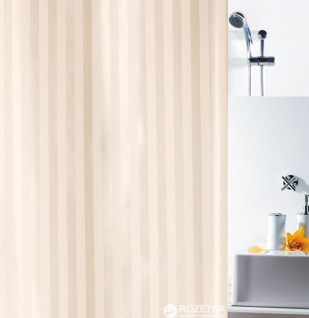 Шторка для ванной Spirella Magi 180x200 Polyester Жасминовая (10.11154)