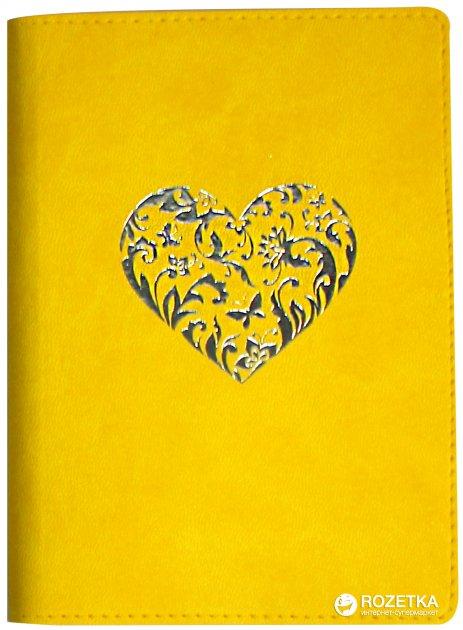 Деловая записная книга Optima Vivella Сердце A6 256 страниц линия Желтая (20803-05)