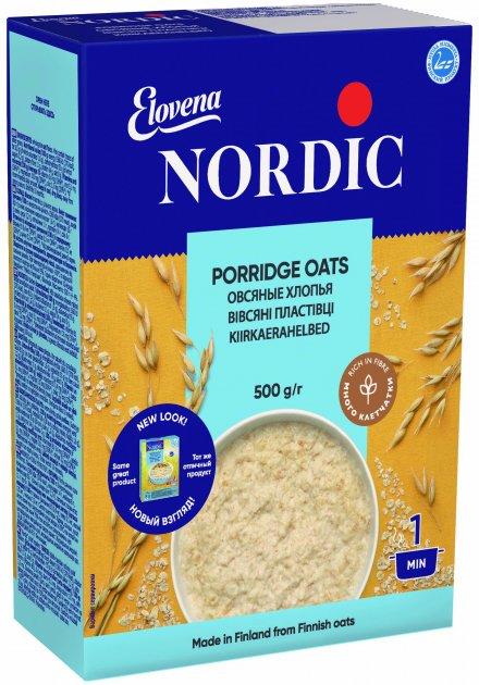 Хлопья овсяные NordiC 500 г (6416597838409) - изображение 1