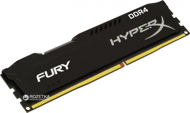 Оперативная память HyperX DDR4-2400 4096MB PC4-19200 Fury Black (HX424C15FB/4) - изображение 1