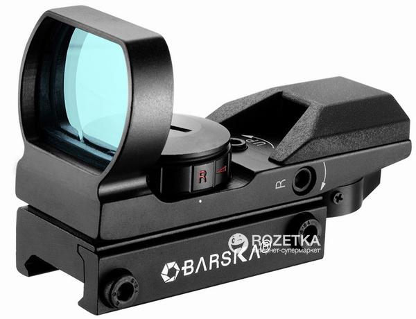 Коліматорний приціл Barska Multi Reticle 1x (Red / Green) (914803) - зображення 1