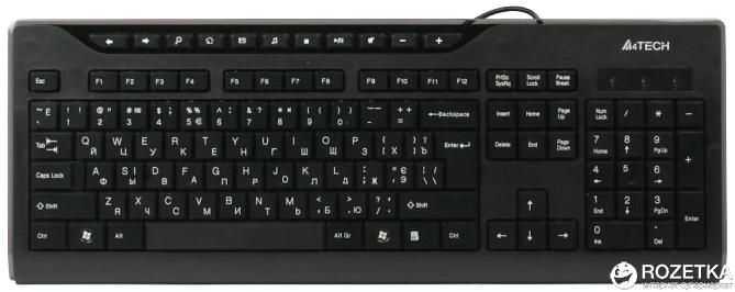 Клавиатура проводная A4Tech KD-800 USB (4711421881425) - изображение 1