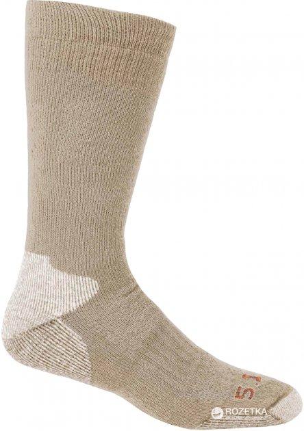 Шкарпетки тактичні 5.11 Tactical Merino Wool Cold Weather OTC Sock 10011 S/M Coyote (2000980268863) - зображення 1