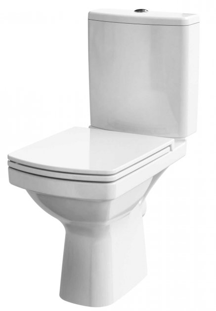 Туалет CERSANIT Компакт 600 EASY NEW CLEAN ON 011 3/5 з кришкою дюропласт ліфт (PL) - изображение 1