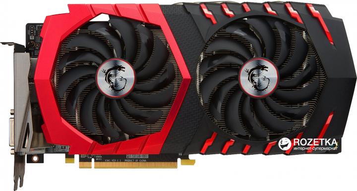 MSI PCI-Ex Radeon RX 470 Gaming X 8GB GDDR5 (256bit) (1242/6600) (DVI, 2 x HDMI, 2 x DisplayPort) (Radeon RX 470 GAMING X 8G) - изображение 1