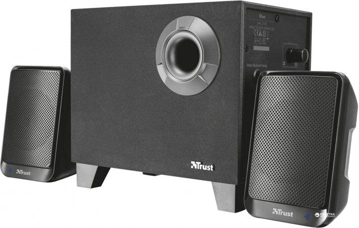 Акустическая система Trust Evon Wireless 2.1 Speaker Set Black (TR21184) - изображение 1