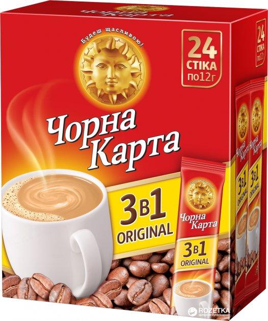 Кофейный напиток Чорна Карта Original 3в1 24 х 12 г (8719189233742_8719189233759) - изображение 1