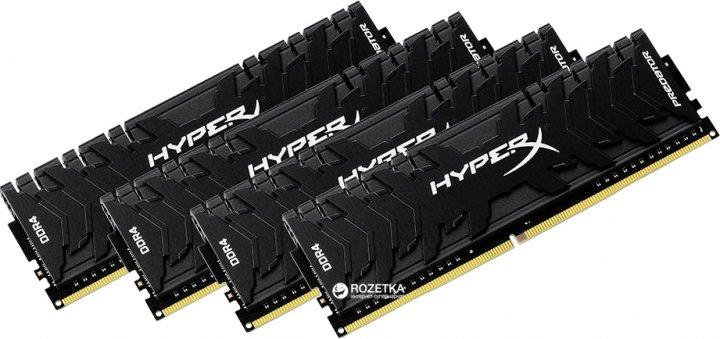 Оперативна пам'ять HyperX DDR4-3200 32764MB PC4-25600 (Kit of 4x8192) Predator (HX432C16PB3K4/32) - зображення 1
