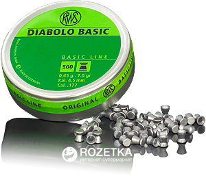 Свинцовые пули Dynamit Nobel RWS Diabolo Basic 4.5 мм 500 шт (2315092) - изображение 1