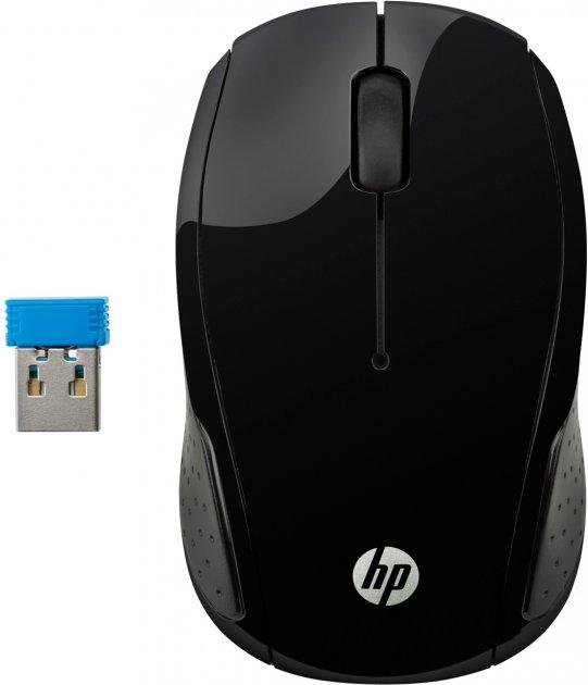 Мышь HP 200 Wireless Black (X6W31AA) - изображение 1