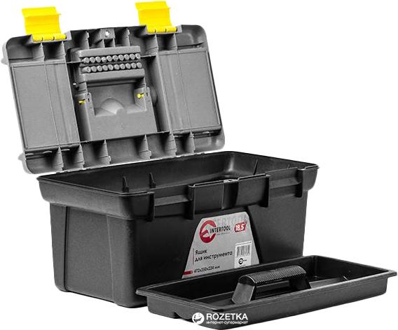 """Ящик для инструмента Intertool 18.5"""" 472x250x224 мм (BX-0318) - изображение 1"""