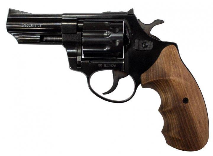 """Револьвер флобера ZBROIA PROFI-3 """"(чорний / дерево) - изображение 1"""