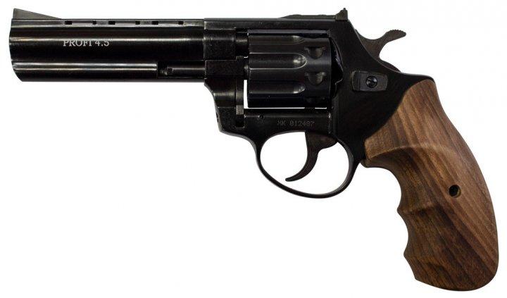 """Револьвер флобера ZBROIA PROFI-4.5 """"(чорний / дерево) - зображення 1"""