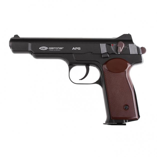 Пневматический пистолет Gletcher APS NBB Пистолет Стечкина АПС газобаллонный CO2 125 м/с - изображение 1