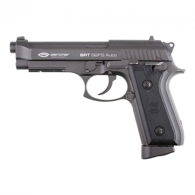 Пневматичний пістолет Gletcher BRT 92FS Blowback Beretta M92 FS блоубэк газобалонний CO2 100 м/с - зображення 1