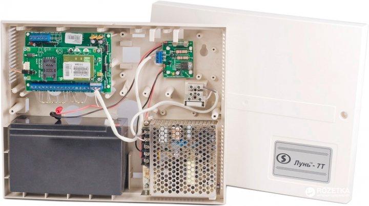 Прилад приймально-контрольний охоронно-пожежний Лунь-7Т (моноблок) технології бездротового з'єднання GSM - зображення 1
