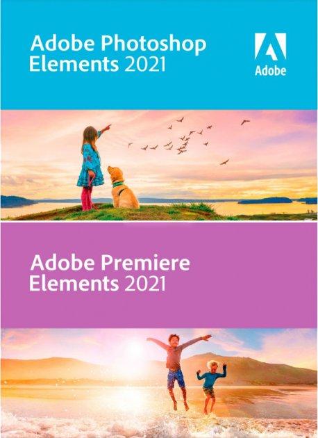 Adobe Photoshop Elements і Premiere Elements 2021 (безстрокова ліцензія) Multiple Platforms International English AOO License TLP 1 ліцензія 1 ПК (65313026AD01A00) - зображення 1