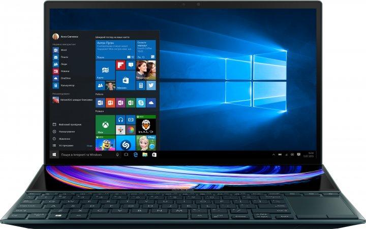 Ноутбук Asus ZenBook Duo 14 UX482EA-HY035T (90NB0S41-M00480) Celestial Blue - зображення 1