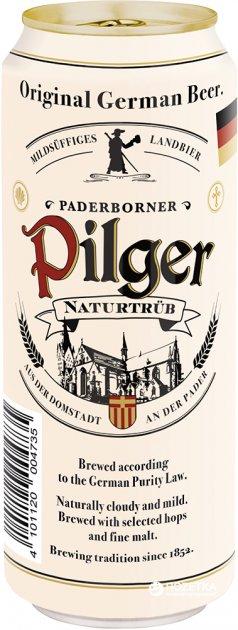 Упаковка пива Paderborner Pilger светлое нефильтрованное 5% 0.5 л х 24 шт (4101120004735) - изображение 1