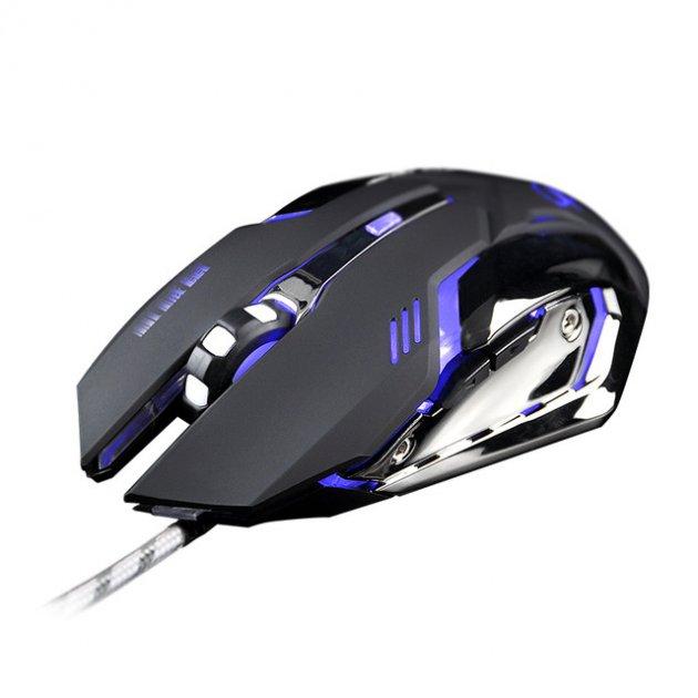 Мышь Zuoya MMR-2 USB, 6 кнопок, 600-5500dpi, игровая Black - изображение 1
