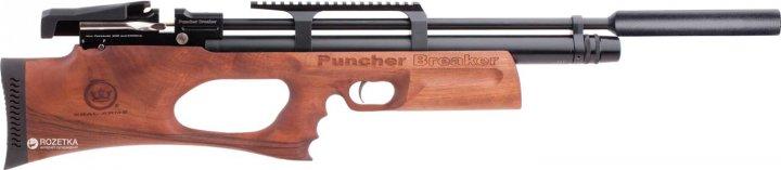 Пневматична гвинтівка Kral Puncher Breaker PCP Wood з глушником (36810103) - зображення 1