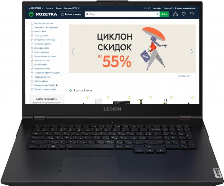 Ноутбук Lenovo Legion 5 17ARH05H (82GN002ERA) Phantom Black - изображение 1