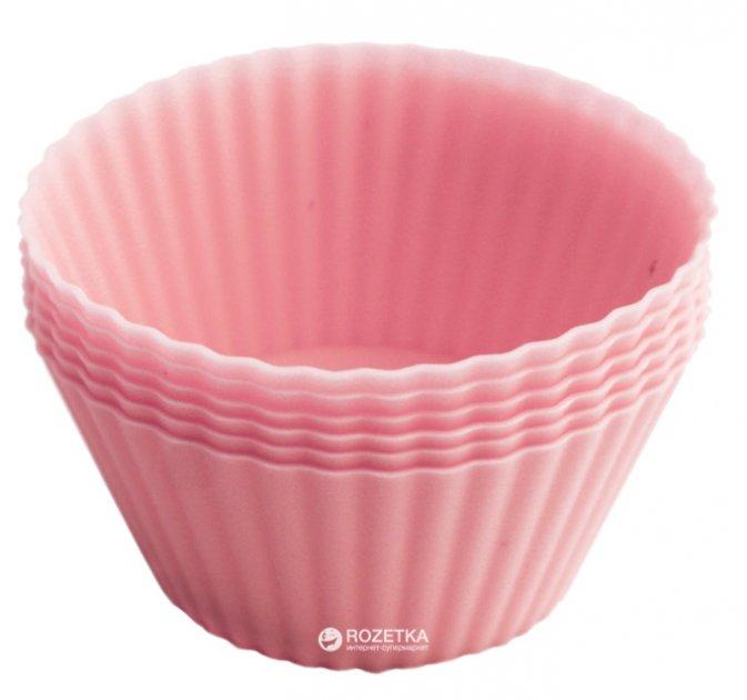Набор форм для выпечки кексов Fissman 6 шт Розовые (PR-7800.BW.Р) - изображение 1