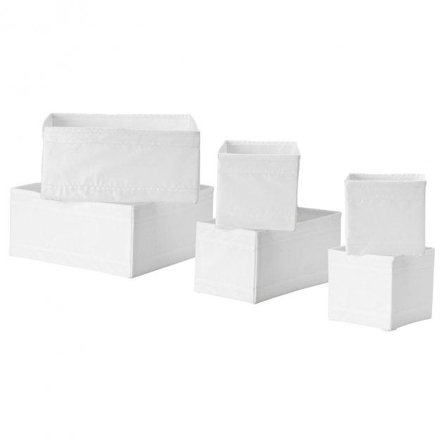 Набір коробок IKEA SKUBB 6 шт білий 001.926.31 - зображення 1