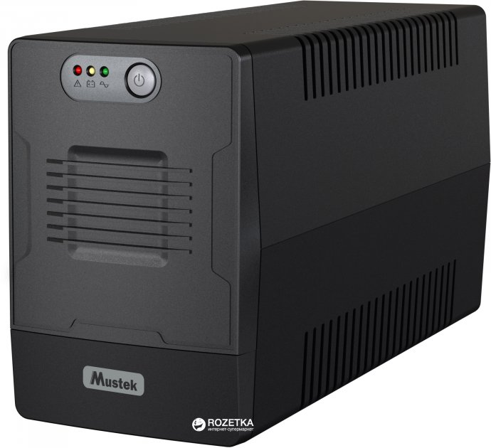 ДБЖ Mustek PowerMust 1500 Line Interactive 1500VA/900W Schuko (1500-LED-LI-T10) - зображення 1