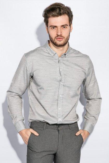 Рубашка классическая светлая Time of Style 333F013 XXXL Серый - изображение 1
