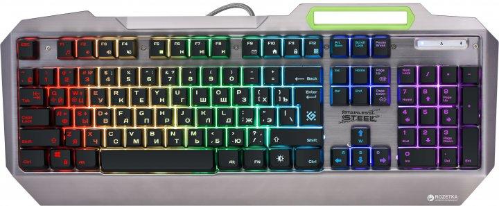 Клавіатура дротова Defender Stainless steel GK-150DL RGB USB (45150) - зображення 1