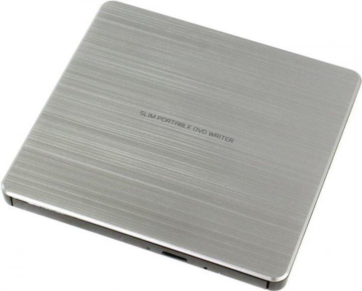 Привод DVD+/-RW Hitachi-LG GP60NS60 USB Ext Slim Silver - изображение 1