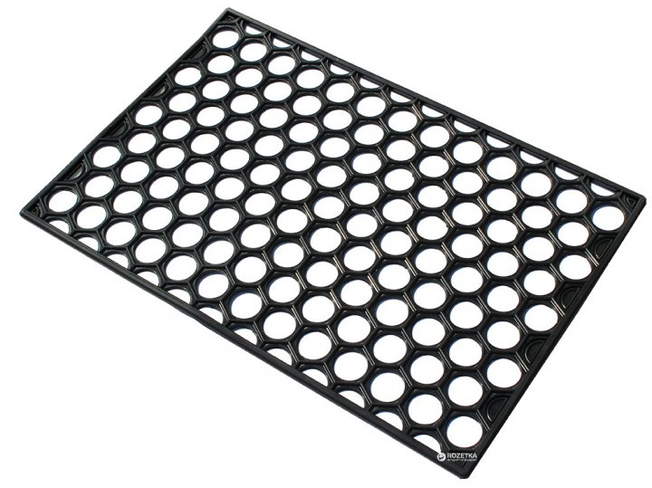 Придверный коврик Киевгума Соты с отверстиями 40x60 Черный (A90160000080456) - изображение 1
