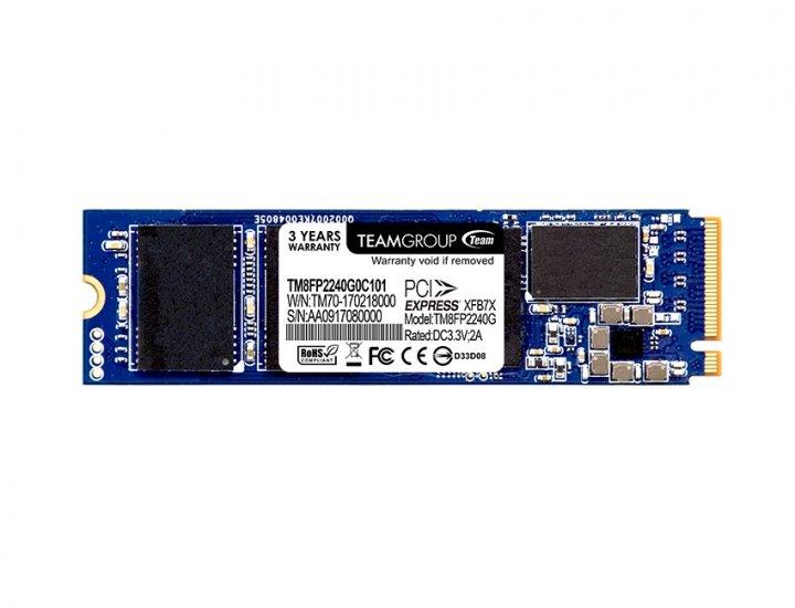 Накопичувач SSD 240GB Team P30 M. 2 2280 PCIe 3.0 x4 MLC (TM8FP2240G0C101) - зображення 1