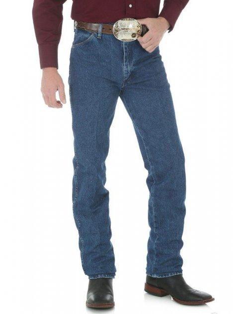Джинсы мужские Wrangler 936 Cowboy Cut Slim Fit (облегающие) Stonewashed W36 L32 Голубые (6063263632) - изображение 1