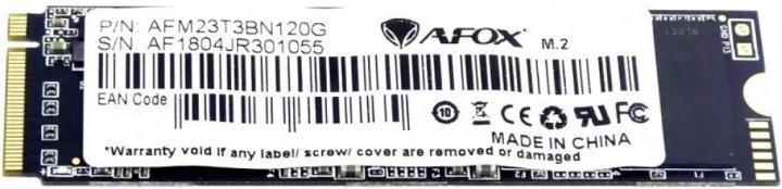 AFOX 120GB NVMe M.2 2280 PCIe 3.0 x2 TLC (AFM23T3BN120G) - изображение 1