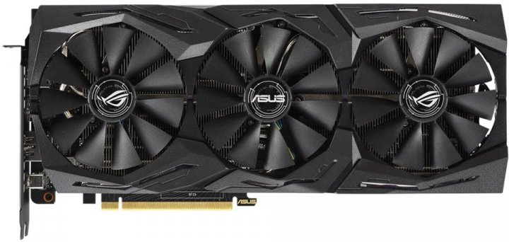 Asus PCI-Ex GeForce RTX 2070 ROG Strix OC 8GB GDDR6 (256bit) (1410/14000) (USB Type-C, 2 x HDMI, 2 x DisplayPort) (ROG-STRIX-RTX2070-O8G-GAMING) - изображение 1