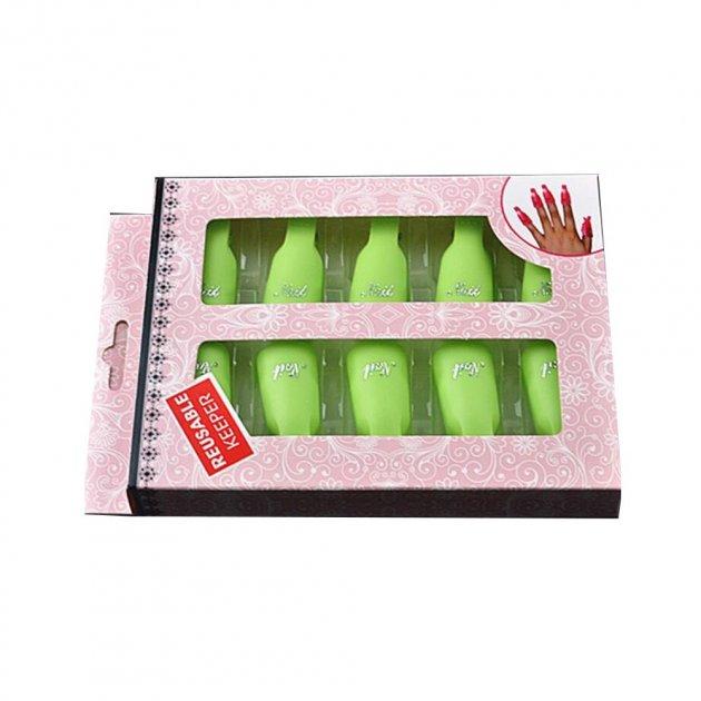 Зажимы для снятия гель лака пластиковые в наборе 10 шт - изображение 1
