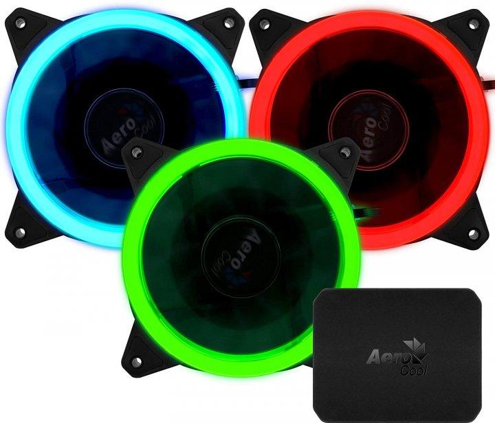 Комплект кулерів Aerocool Rev RGB Pro з контролером P7-H1 (Rev RGB Pro) - зображення 1