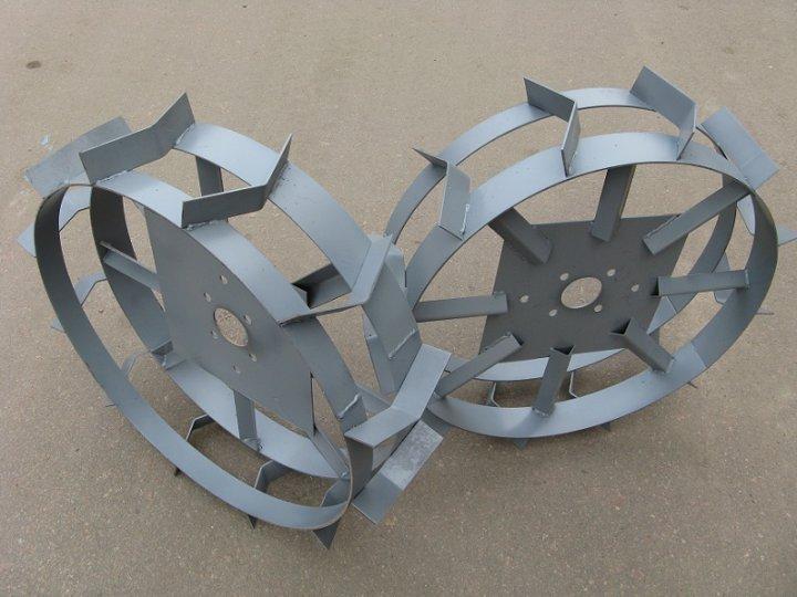 Грунтозацепы (колёса металлические с грунтозацепами) АгроСад d=600/150мм универсальные - изображение 1