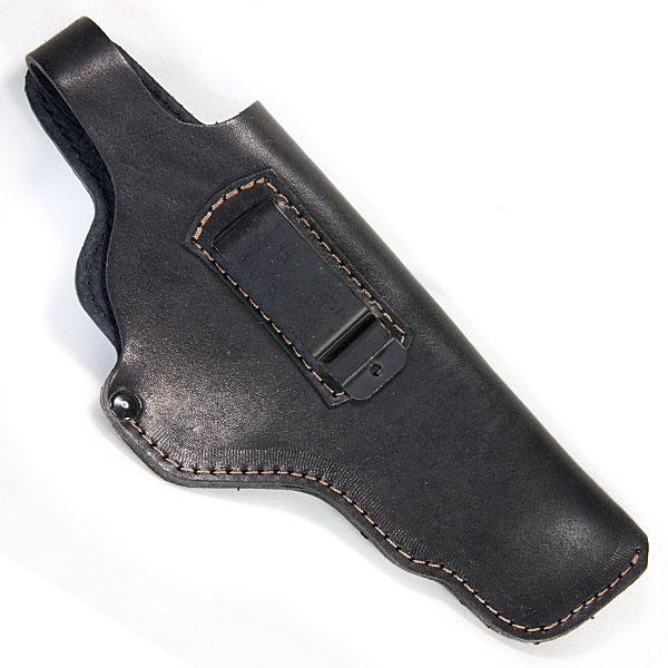Кобура поясна для пістолета АПС Стечкіна не формована з кліпсою Шкіра Чорна Beneks A121 - зображення 1
