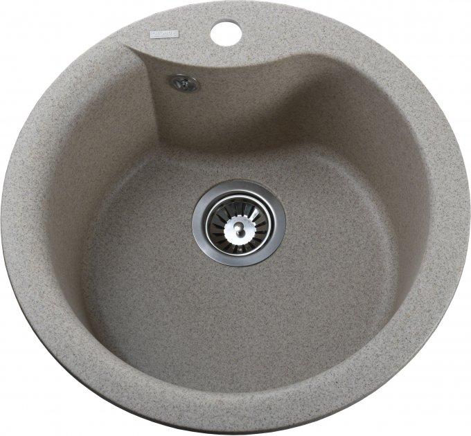 Кухонная мойка GLOBUS LUX Orta 485 миндаль (000021052) - изображение 1