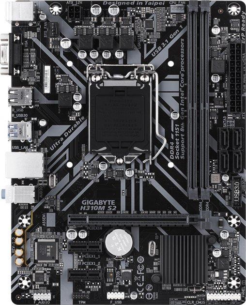 Материнская плата Gigabyte H310M S2 (s1151, Intel H310, PCI-Ex16) - изображение 1