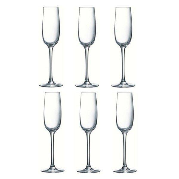 Набор бокалов для шампанского Luminarc Allegresse 175 мл 6 шт (J8162/1) - изображение 1