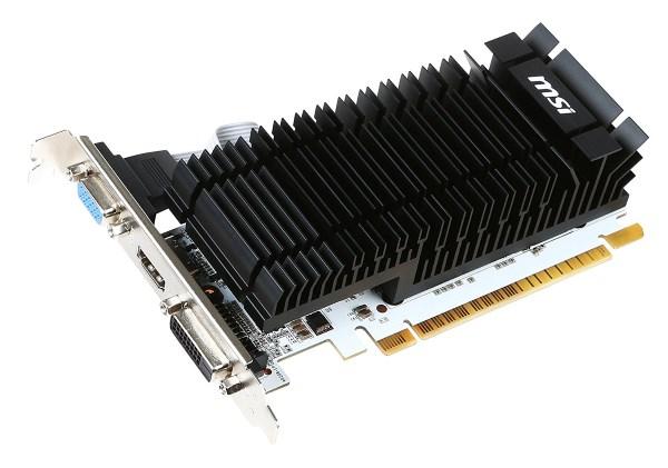 Відеокарта MSI GeForce GT 730 2GB GDDR3 902MHz/1600MHz, 64-bit, Silent, Low Profile, DVI, D-sub, HDMI - изображение 1