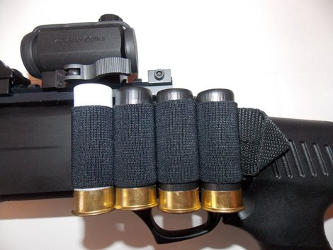 Комплект СайдСеддл (SideSaddle) BML – патронташ на ствольну коробку для дробовика 12 калібру з м'яких матеріалів (тканина) (77772) - зображення 1