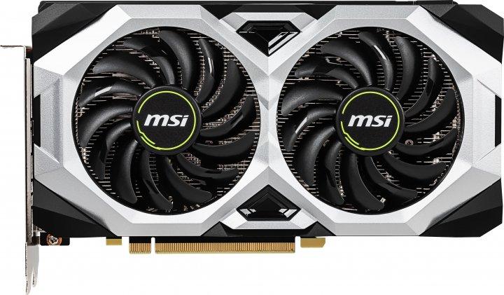 MSI PCI-Ex GeForce RTX 2060 Ventus 6G OC 6GB GDDR6 (192bit) (1710/14000) (3 x DisplayPort, 1 x HDMI 2.0b) (RTX 2060 VENTUS 6G OC) - зображення 1