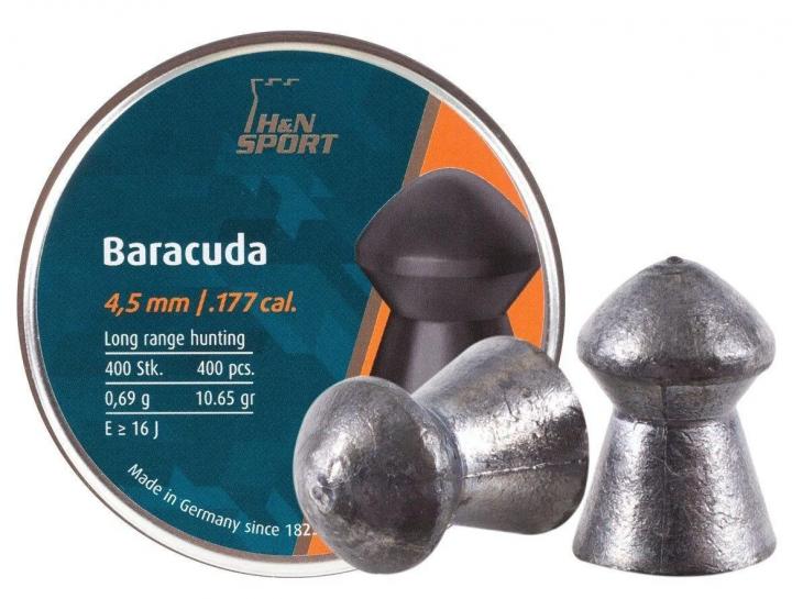 Свинцовые пули H&N Baracuda 4,5 мм 0,69 г 400 шт/уп (1453.02.70) - изображение 1