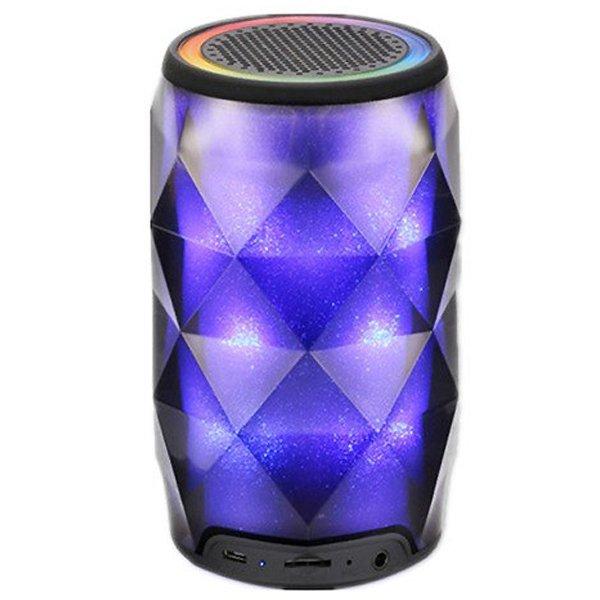 Портативная колонка Pulse светодиодная цветомузыка Bluetooth 13,5см Чёрная (CR-4) - изображение 1