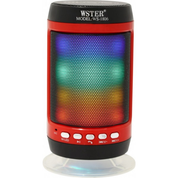 Портативна колонка Bluetooth WS-1806+ зі світломузикою Black - зображення 1